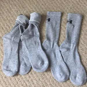 Grey Under Armour Socks